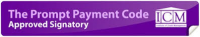 Prompt Payment Code Signatory